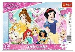 TREFL Puzzle Ramkowe 15 el. KSIĘŻNICZKI Urocze Księżniczki (31352)
