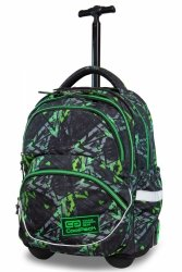 Plecak CoolPack STARR na kółkach w zielone wzory, ELECTRIC GREEN (B35099)