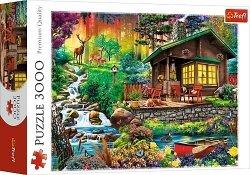 TREFL Puzzle 3000 el. Chatka w lesie (33074)
