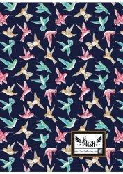 Zeszyt A4 60 kartek w kratkę HASH w kolorowe ptaszki, KOLIBER HS-155 (102019044)