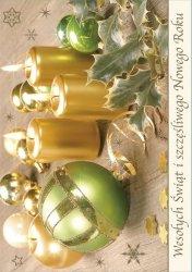 Kartka świąteczna BOŻE NARODZENIE 12 x 17 cm + koperta (41312)