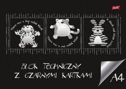 Blok techniczny z czarnymi kartkami A4 BAMBINO (20026)