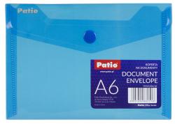 Teczka koperta transparentna na dokumenty A6 PATIO niebieska (PAT6133A/N/18)