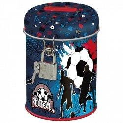 Skarbonka z kłódką FOOTBALL Piłka nożna (SKPI12)