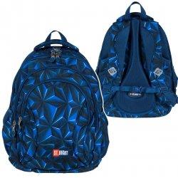 Plecak szkolny młodzieżowy ST.RIGHT granatowa abstrakcja 3D, 3D NAVY ABSTRACTION BP2 (25671)