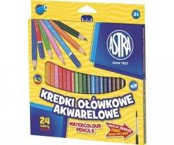 Kredki ołówkowe akwarelowe 24 kolory ASTRA (312110005)