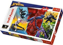 TREFL Puzzle 100 el. Do góry nogami,  Spiderman (16347)