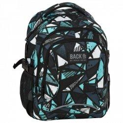 Plecak szkolny młodzieżowy Back UP niebieskie wzory KALEIDOSCOP (PLB2F80)