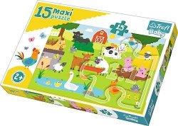 TREFL Puzzle 15 Maxi Zwierzęta na wsi (14275)