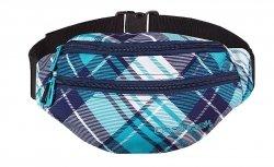 Saszetka na pas torba nerka COOLPACK POLAR w niebieską kratę DERRICK 506 (60424)