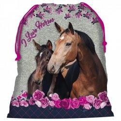 Worek na obuwie I Love Horses KONIE (WOKO13)