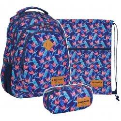 ZESTAW 3 el. Plecak HEAD w papugi, PARROTS HD-213 (50201901SET3CZ5)