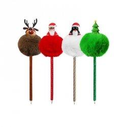 Długopis świąteczny z pomponem PINGWIN INCOOD.  (0106-0269)