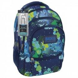 Plecak szkolny młodzieżowy Back UP zielone plamy MOSAIC SPLASH + słuchawki (PLB1C22)