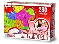 ZACHEM Puzzle 260 el. Mapa Polski, PUZZLE EDUKACYJNE (6944)