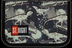 Piórnik St.Right bez wyposażenia w dinozaury, DINOSAURS PC03 (21123)
