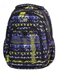 Plecak szkolny młodzieżowy COOLPACK STRIKE niebiesko - żółte wzory, TIE DYE BLUE 739 (73073)