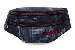 SASZETKA NERKA CoolPack na pas torba MADISON czarna z czerwonymi dodatkami, MISTY RED (B64006)