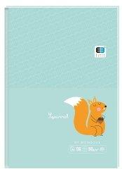 Brulion notes A6 96 kartek w kratkę SQUIRREL wiewiórka B&B Kids (61281)