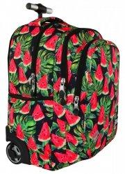 Plecak ST.RIGHT na kółkach Watermelon czarny w arbuzy TB1 szkolny młodzieżowy (19441)