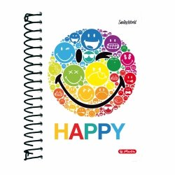 Brulion na spirali A6 200 kartek Smiley World RAINBOW, HERLITZ (36422/R)