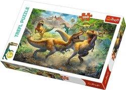 TREFL Puzzle 160 el. DINOZAURY, Walczące tyranozaury (15360)