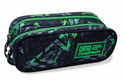 Piórnik CoolPack CLEVER w zielone wzory, ELECTRIC GREEN (B65099)