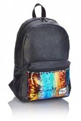 Plecak HASH czarny w kolorowe cekiny FASHION MULTICOLOR SEEINGS HS-138 (502019091)