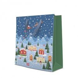 Torebka świąteczna VILLAGE rozm L, Paw (AGB2004502)