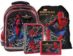Plecak szkolny Spiderman (PL15BSH12SET4CZ) ZESTAW 4 el.