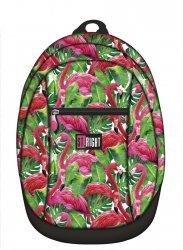 Plecak młodzieżowy, wycieczkowy ST.RIGHT w egzotyczne rośliny i flamingi, FLAMINGO PINK & GREEN BP9 (18628)