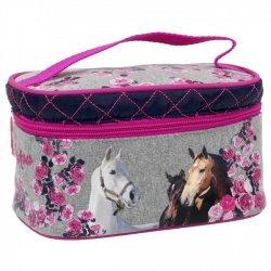 Kuferek kosmetyczka I LOVE HORSES Konie (KKBKO13)