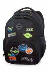 Plecak CoolPack BENTLEY czarny w znaczki, BADGES BLACK (B24055)