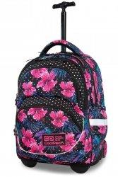 Plecak CoolPack STARR na kółkach w różowe kwiaty, BLOSSOM (B35102)