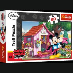 TREFL Puzzle 60 el. Miki i Minnie w ogrodzie (17285)