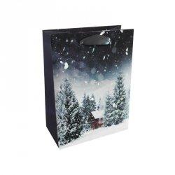 Torebka świąteczna na prezent ZIMOWY KRAJOBRAZ Incood. (0071-0232)