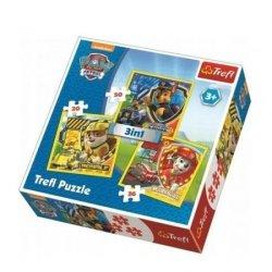 TREFL Puzzle 3 w 1 Psi Patrol, Marshall, Rubble i Chase (34839)