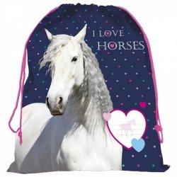 Worek na obuwie I LOVE HORSES Konie (WOKO17)