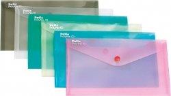 Teczka koperta transparentna na dokumenty DL PATIO grafitowa (PAT3153/N/11)