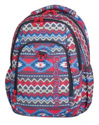 Plecak szkolny młodzieżowy COOLPACK STRIKE w kolorowe wzory, BOHO BEIGE 803 (74889)