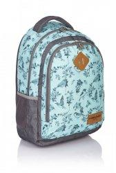 Plecak szkolny HEAD HD-15 turkusowy w szare ptaszki (502017029)