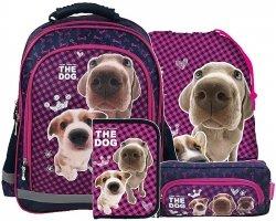 Plecak szkolny THE DOG (PL15TD32) ZESTAW 4 el.