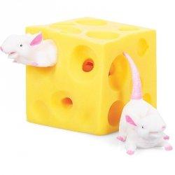 Rozciągliwy serek z myszkami, zabawka sensoryczna (11909)
