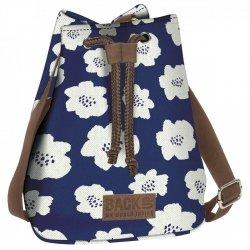 Plecak BackUP torebka CANVAS 2w1 w maki, BLUE POPPY (TPCB2A27)