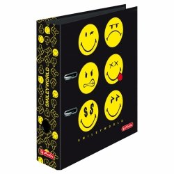 Segregator maX.file A4 Smiley World BLACK 8 cm, HERLITZ (37146)
