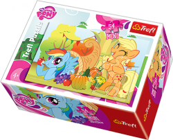 TREFL Puzzle mini 54 el. My Little Pony, Kucyki w sadzie (19465)