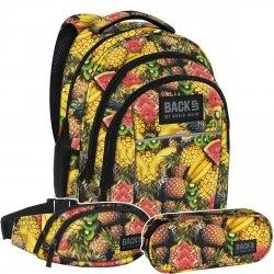 ZESTAW 3 el. Plecak szkolny młodzieżowy BackUP TUTTI FRUTTI (PLB2H29SET3CZ)