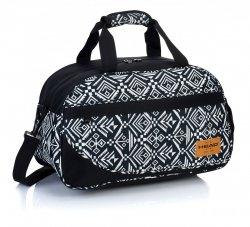 Torba podróżna, sportowa HEAD białe i czarne wzory AZTEC HD-128 (506018023)