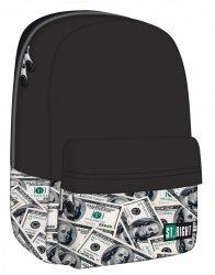 Plecak szkolny ST.RIGHT młodzieżowy Dollars czarny w dolary BP33 (17218)