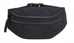 SASZETKA NERKA CoolPack na pas torba MADISON czarna, SNOW BLACK/SILVER (88763CP)